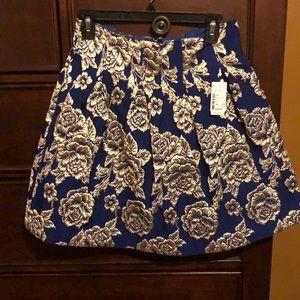 Navy Blue & Gold Skirt